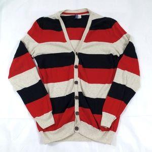 1c87900f09a89 ... Wide Striped Cardigan Sweater ...